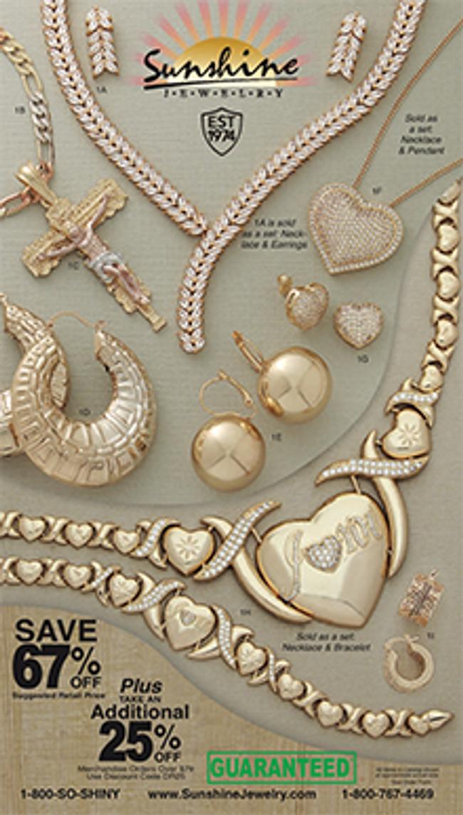 Sunshine Jewelry Catalog Cover