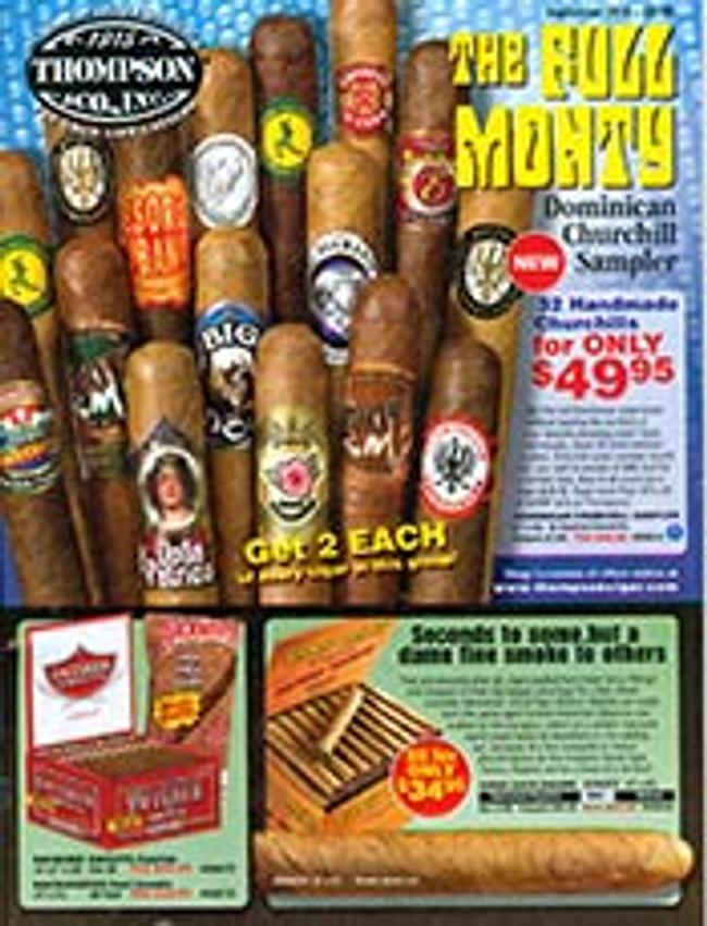 Thompson Cigar Catalog Cover