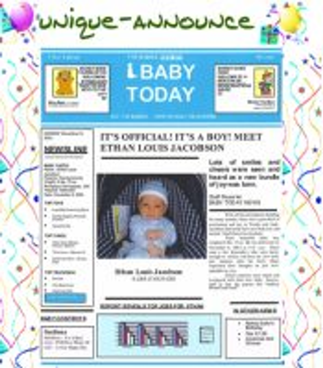 Unique-Announce.com Catalog Cover