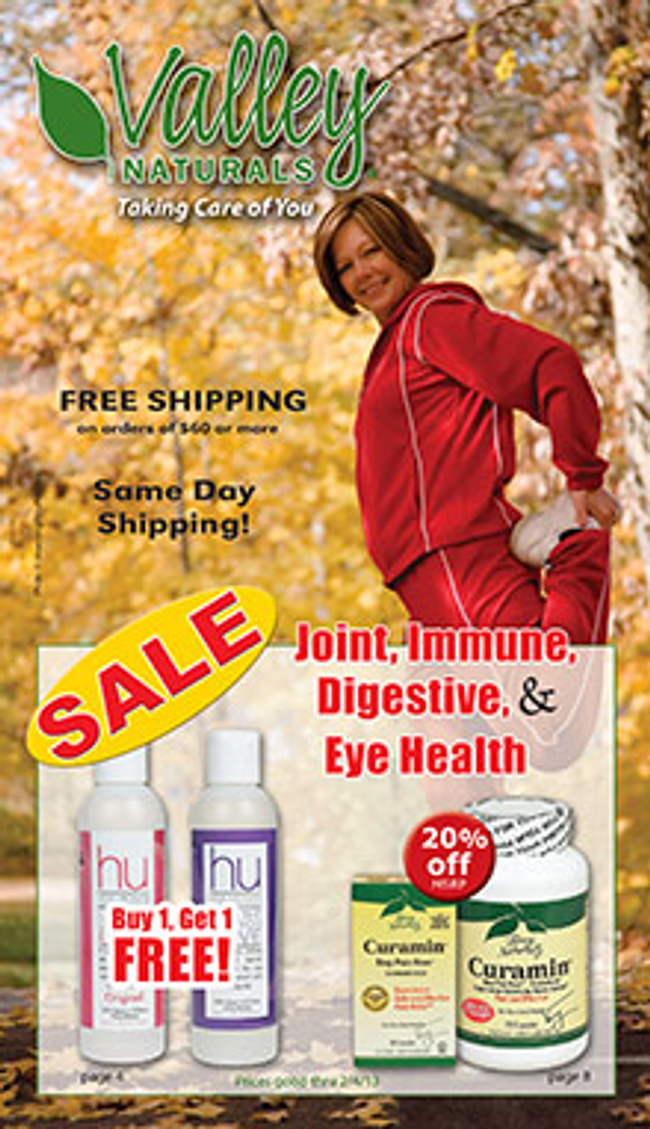 Valley Naturals Catalog Cover