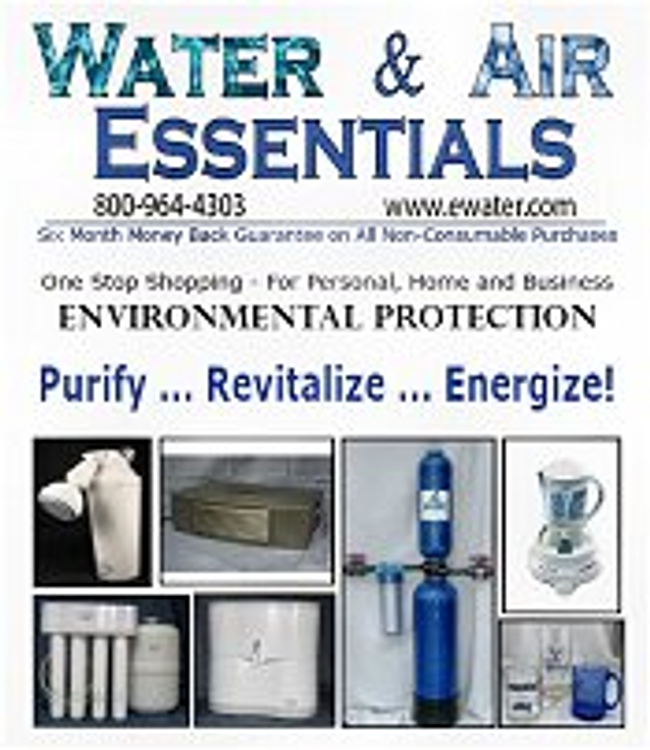 Water & Air Essentials Catalog Cover