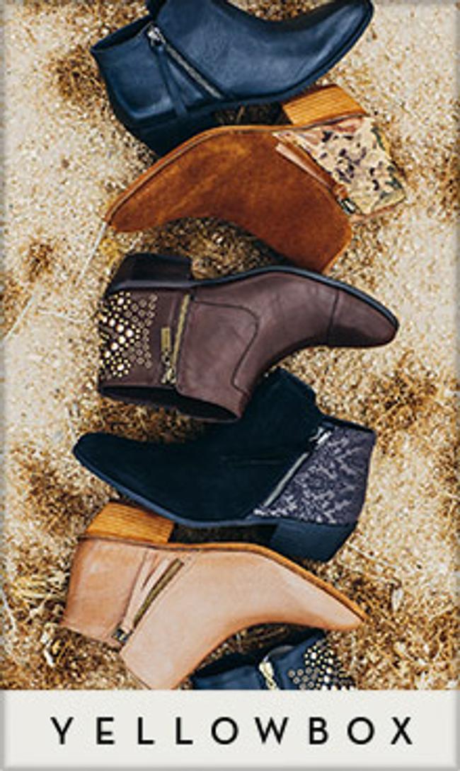 Yellow Box Footwear Catalog Cover
