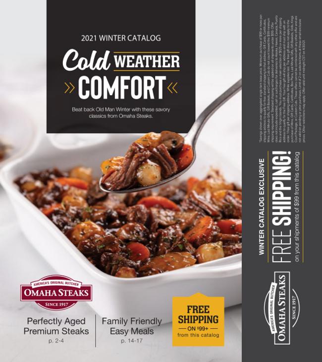 Omaha Steaks Catalog Cover