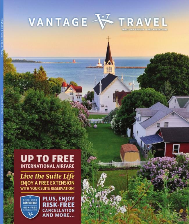 Vantage Travel Catalog Cover