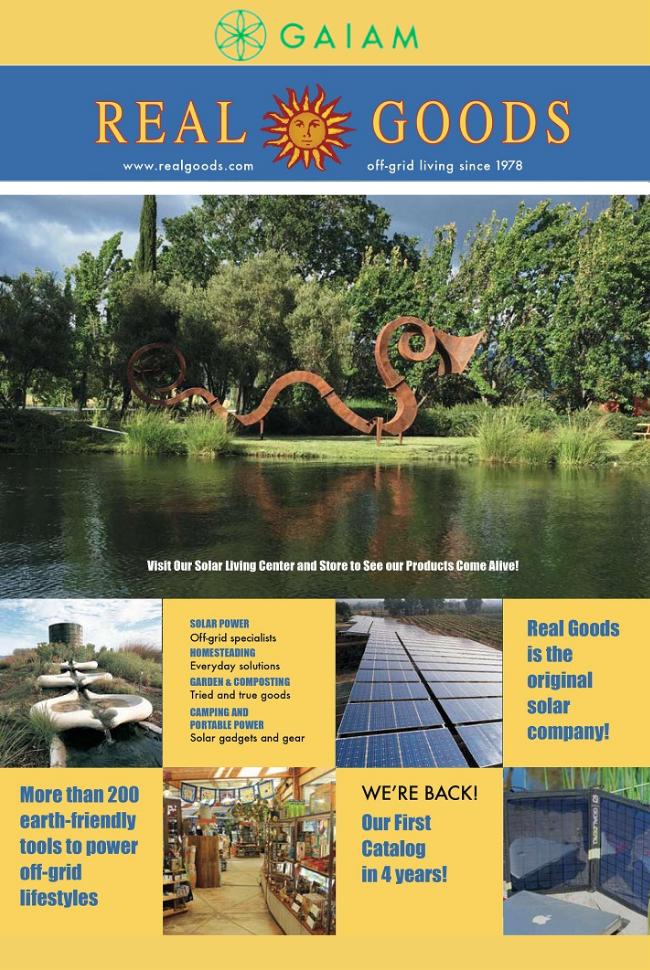 Gaiam - Real Goods Catalog Cover