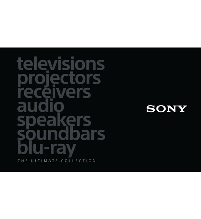 Sony- Home Catalog Cover