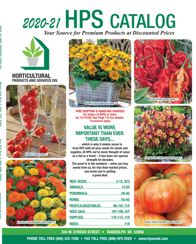 HPS Seed Catalog Cover
