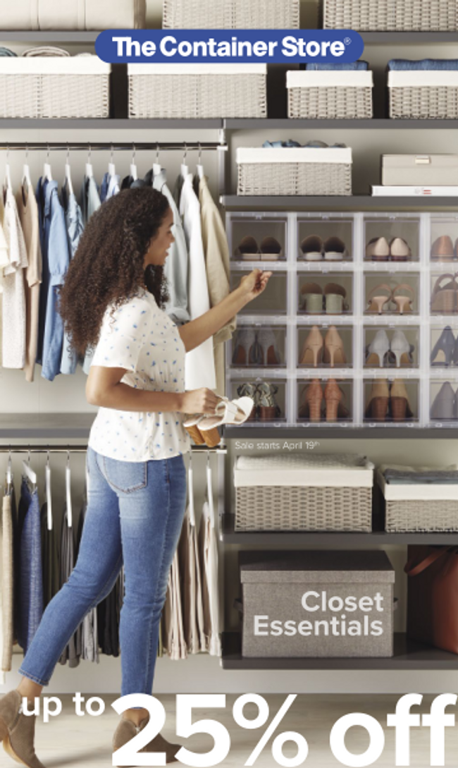 Container Store Closet Essentials Catalog Cover
