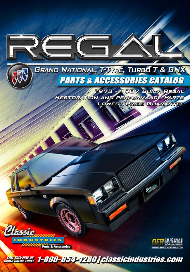 Buick Regal Parts Catalog Cover