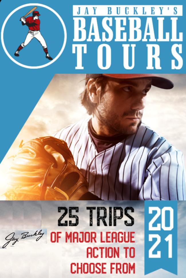 Jay Buckley's Baseball Tours  Catalog Cover