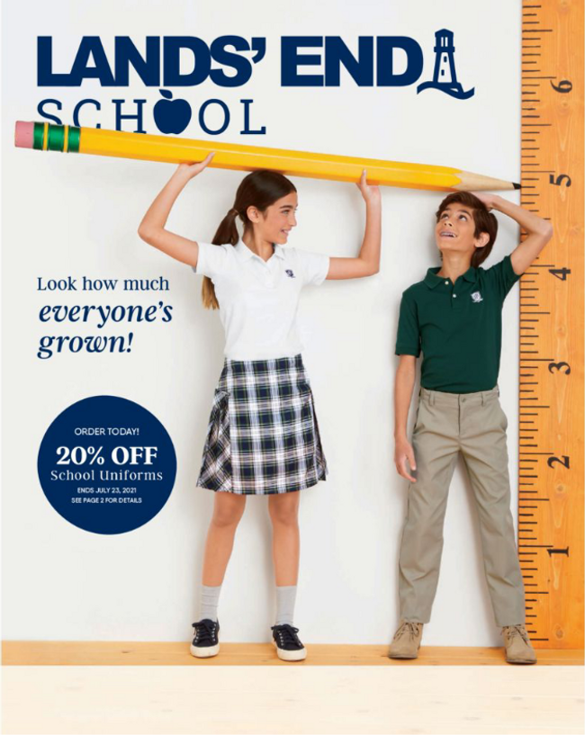 Land's End - School Catalog Cover