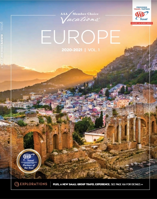 Europe - Collette Vacations (ages 55+) Catalog Cover