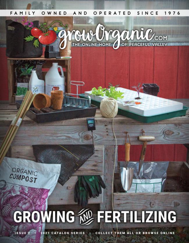 Grow Organic Catalog Cover