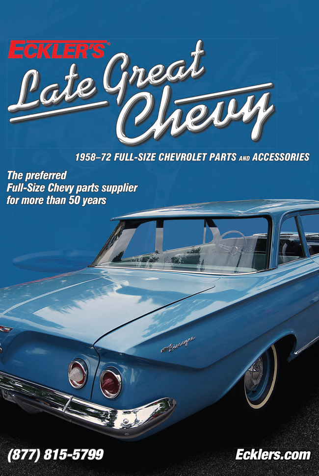 Eckler's Late Great Chevy  Catalog Cover