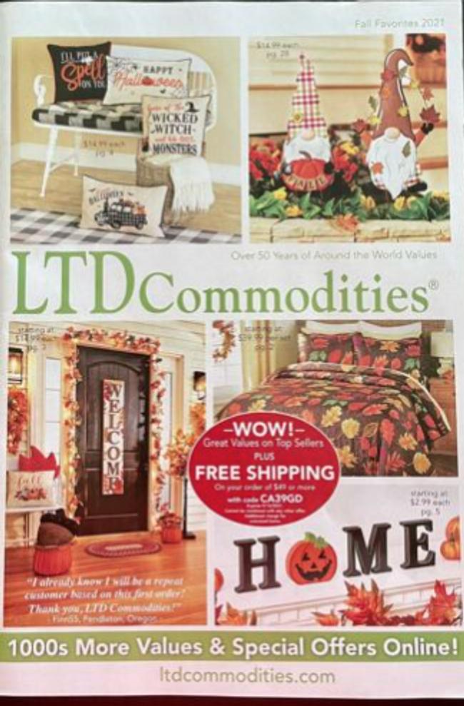 LTD Commodities Catalog Cover