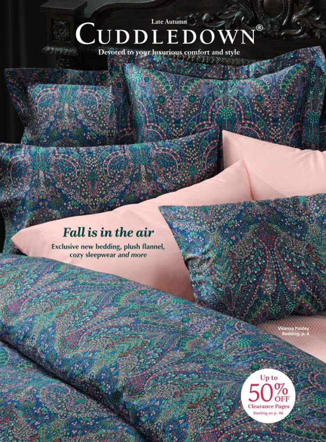 Cuddledown Catalog Cover