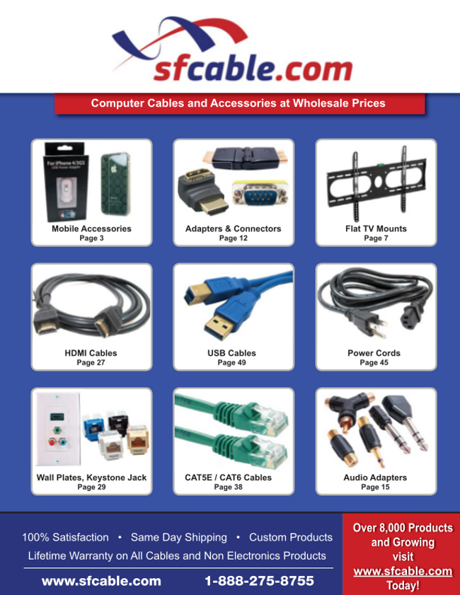 SF Cable Catalog Cover