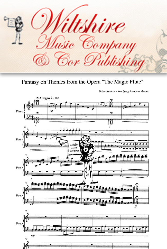 Wiltshire Music Company Catalog Cover