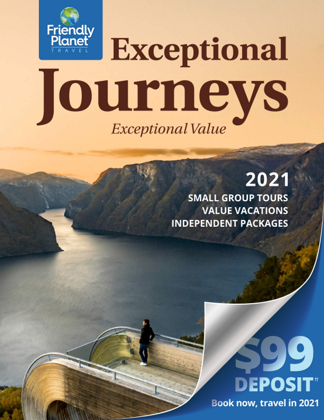 Friendly Planet Travel Catalog Cover
