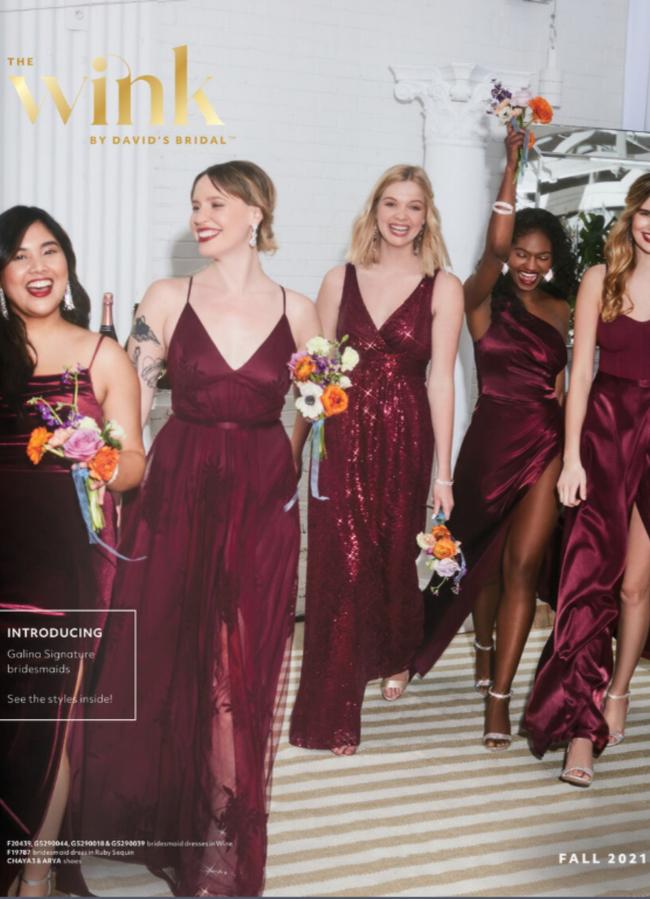 David's Bridal Bridesmaids Catalog Cover