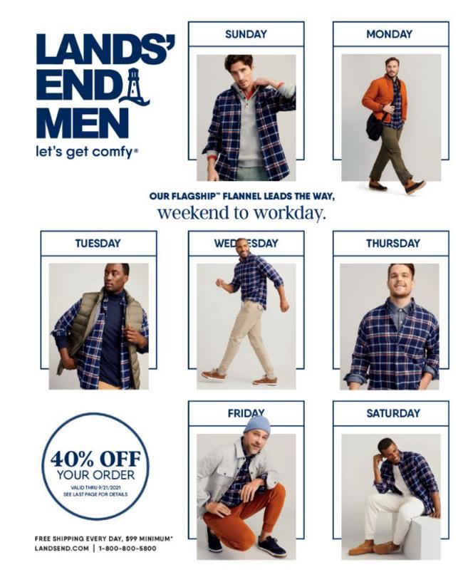 Lands' End - Men Catalog Cover