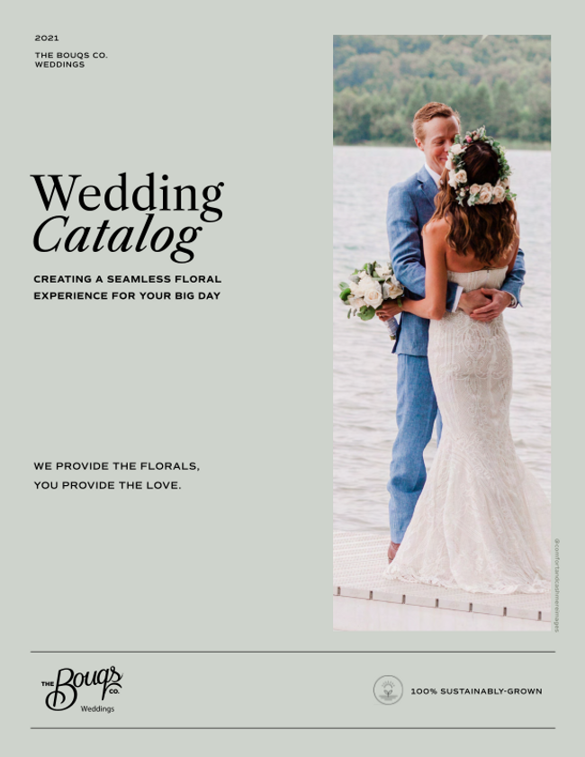 The Bouqs Co. Weddings Catalog Cover