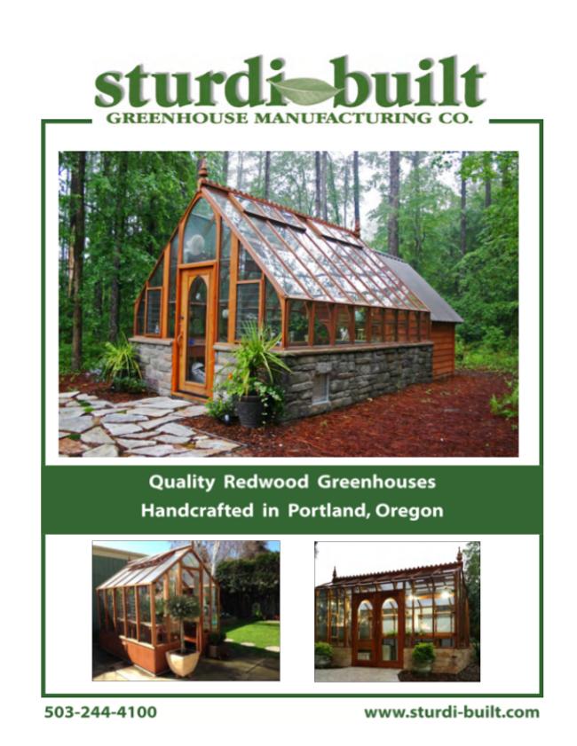 Sturdi-Built Greenhouse Catalog Cover
