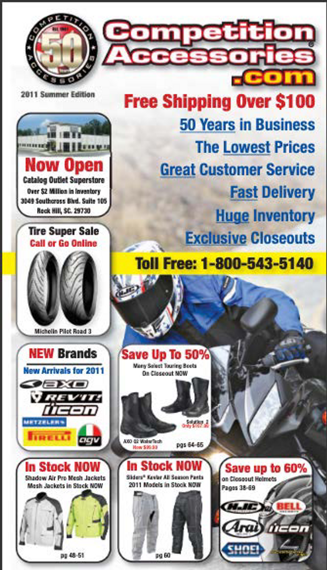 Competition Accessories Catalog Cover