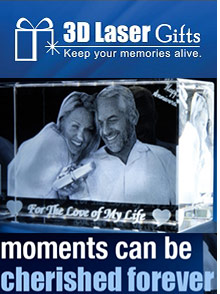 Picture of unique photo gifts from 3D Laser Gifts catalog