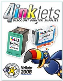Picture of printer ink from 4InkJets.com catalog