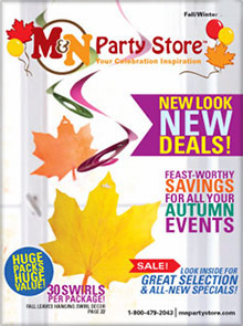 Picture of discount party supplies catalog from M & N Party Store catalog