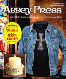 Picture of religious crosses from Abbey Press catalog
