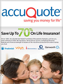 Picture of accuquote life catalog from AccuQuote Life  catalog