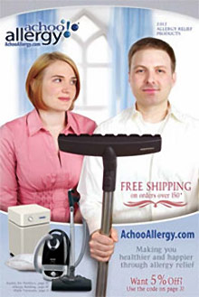 Picture of air purifiers from AchooAllergy.com catalog