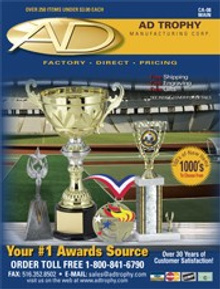 Picture of wrestling medals from  AD Trophy catalog