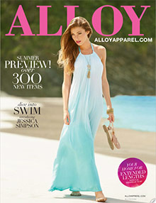 Picture of clothes catalogs from Alloy catalog