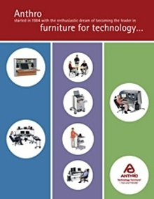 Picture of ergonomic office solutions from Anthro Technology Furniture catalog