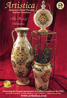 Picture of Tuscan pottery from Artistica catalog