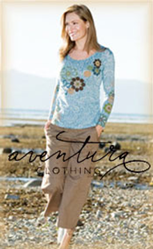 Picture of organic fabric clothing from Aventura Clothing catalog