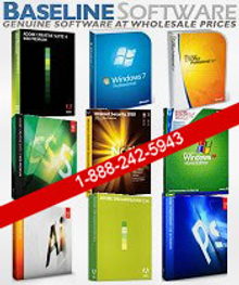 Picture of computer software products from Baseline Software catalog