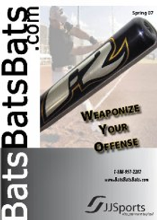 Picture of baseball equipment online from BatsBatsBats.com catalog
