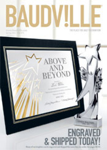 Picture of employee award from Baudville OLD B2B catalog