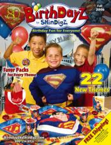 Picture of birthday party themes from BirthdayZ by Shindigz catalog
