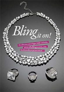 Picture of bling jewelry from The Bling Society ® catalog