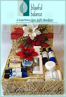 Picture of bath gift sets from Blissful Balance catalog