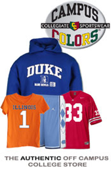 Picture of college sports apparel from Campus Colors catalog