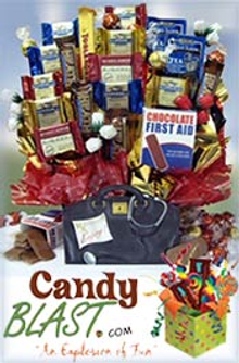 Picture of candy baskets from CandyBlast.com catalog