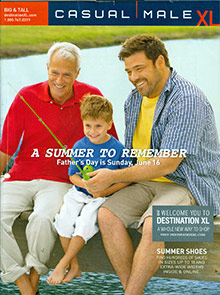 Picture of big and tall catalogs from Casual Male XL catalog