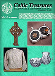 Picture of Irish Celtic jewelry from Celtic Treasures catalog
