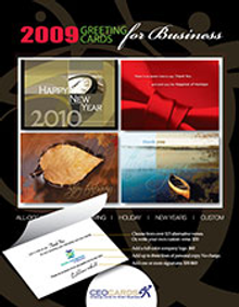 Picture of business greetings from CEOCARDS - Greeting Cards for Smart Business catalog